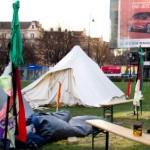 Das Camp wenige Stunden vor seiner gewaltsamen Räumung.