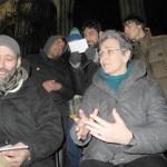 Ulrike Lunacek war im Januar 2013 bei den Refugees in der Votivkirche