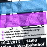 Flyer für die Demo am 16.2.2013