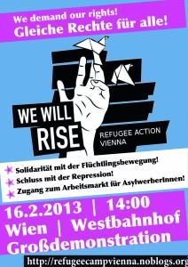 Plakat für die Demo am 16.2.2013