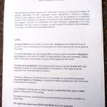 Caritas-Hausordnung im Servitenkloster, Seite 1