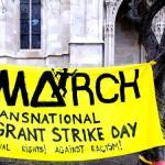 Foto: Migrantinnenstreik: Kundgebung vor der #Votivkirche #1march #refugeecamp