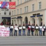 Foto: Mahnwache in Salzburg am 2. März / Salzburg, March 2: Solemn vigil