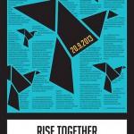 Rise together Plakat beim Voting Bestes politisches Plakat 2013